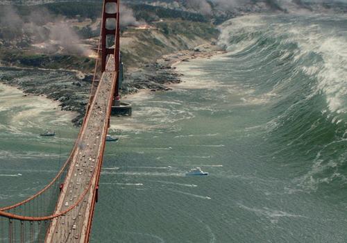 """Cảnh quay gây ấn tượng về mặt thị giác trong """"San Andreas""""."""