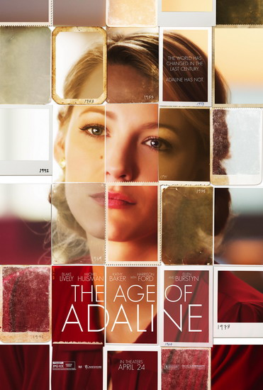 "Poster phim ""The Age of Adaline""."