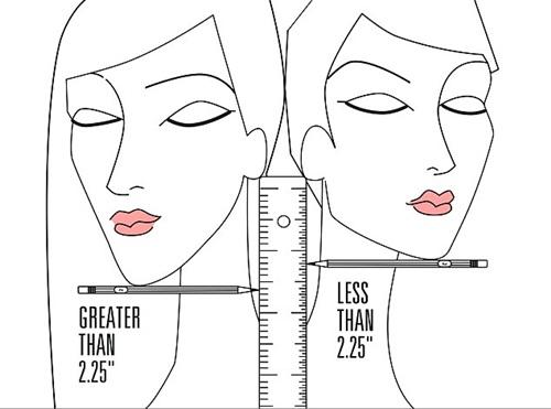 Cách đo để biết gương mặt hợp với tóc ngắn hay dài.