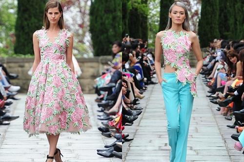 Giữa khu vườn thơ mộng & nhiều hoa hồng đẹp như mơ ở Beverly Hills, những thiết kế thanh lịch và sang trọng của Đỗ Mạnh Cường thực sự để lại ấn tượng tuyệt vời trong lòng khán giả yêu thời trang