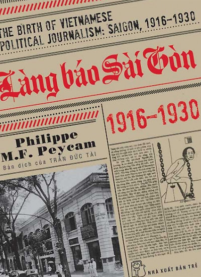 """Bìa cuốn """"Làng báo Sài Gòn 1916-1930""""."""