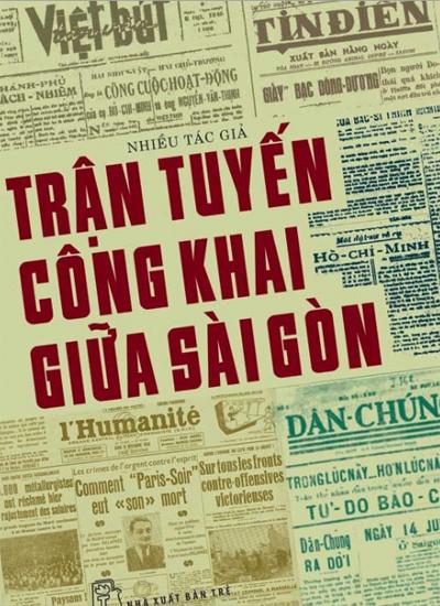 """Bìa cuốn """"Trận tuyến công khai giữa Sài Gòn""""."""