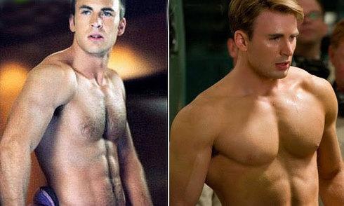 Bí quyết tập luyện tăng cân, giảm mỡ của Chris Evans
