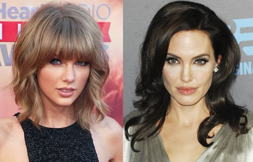 Taylor Swift ngưỡng mộ Angelina Jolie. Ảnh: Wenn.