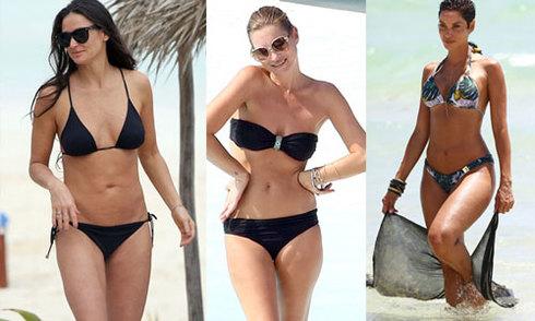 Sao trên 40 tuổi khoe vóc dáng với bikini