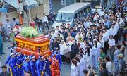 Người dân xếp hàng dài đưa tiễn Giáo sư Trần Văn Khê