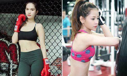Mỹ nhân Việt khoe dáng trên sàn kick-boxing