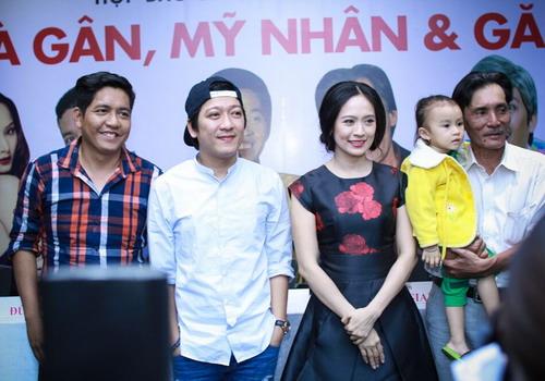 Đức Thịnh, Trường Giang, Thanh Thúy và nghệ sĩ Thương Tín trong buổi ra mắt dự án phim hồi cuối tháng 6.