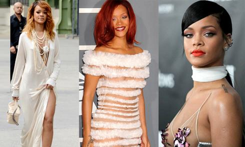Rihanna chuộng phong cách khoe vòng một