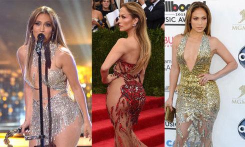 Những bộ váy xuyên thấu táo bạo của Jennifer Lopez
