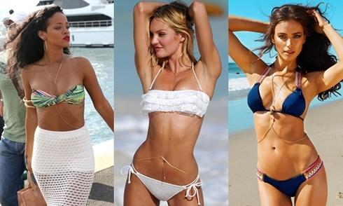 Mỹ nhân Hollywood sexy khi kết hợp bikini với trang sức toàn thân