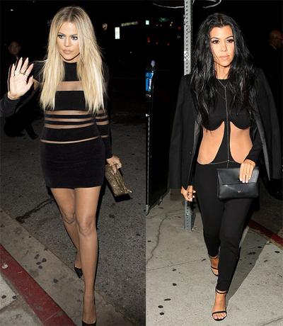 Em gái Kim Kardashian lấy tay che chắn vì váy xẻ quá cao - ảnh 7