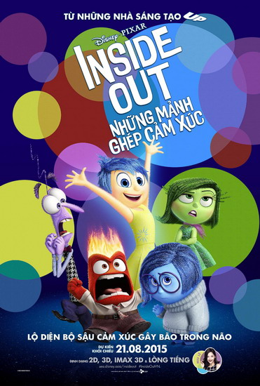 """Poster phim """"Inside Out""""."""