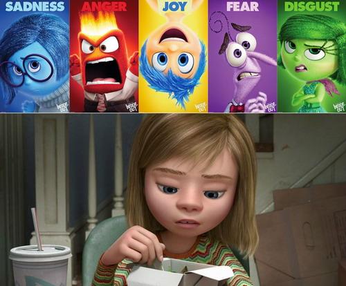 Năm cảm xúc tồn tại trong tâm trí của cô bé Riley.
