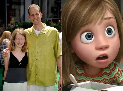 Pete Docter bên con gái Elie - nguyên mẫu của nhân vật Riley trong