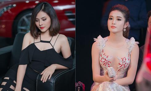 Huyền My, Vân Trang đọ vẻ gợi cảm