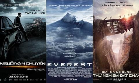 11 phim Âu - Mỹ chiếu rạp Việt Nam trong tháng 9