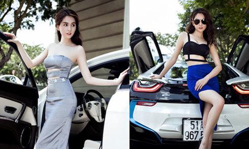 Ngọc Trinh dùng bốn xe sang làm đạo cụ phim 'Vòng eo 56'