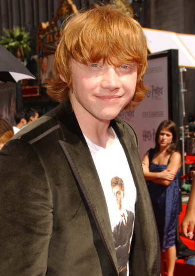 6. Rupert Grint  $4 Million For Harry Potter and the Order of the Phoenix, 2007 (Age 19)