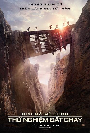 "Poster phim ""Maze Runner: The Scorch Trials""."