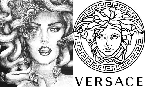 Nữ thần Medusa và biểu tượng thương hiệu của Versace.