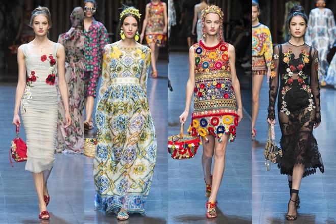 Dolce & Gabbana mê hoặc khán giả bằng thiết kế sắc màu