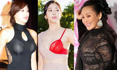 Những người đẹp châu Á gây phản cảm với mốt khoe nội y