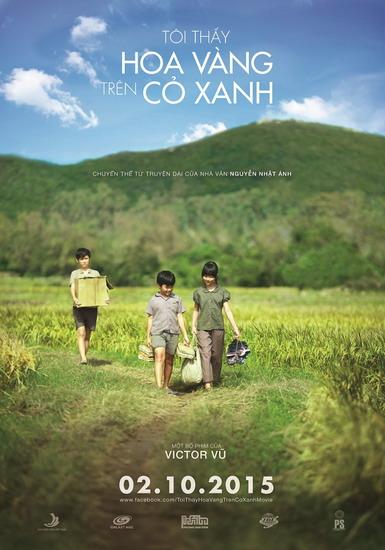 """Poster phim """"Tôi thấy hoa vàng trên cỏ xanh""""."""