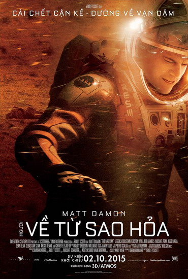 "Poster phim ""The Martian""."