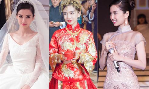 5 bộ váy cưới hàng hiệu của Angelababy