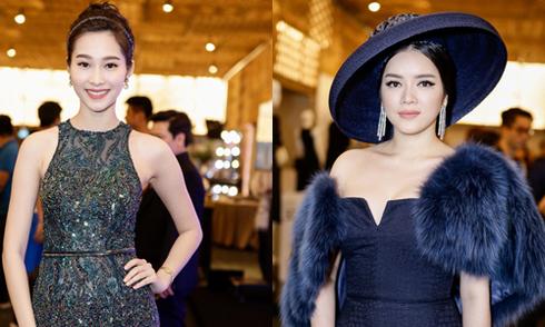 Hoa hậu Diệu Hoa diện váy cúp ngực chấm thi