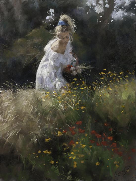 Những bức tranh đầy chất thơ về hoa và phụ nữ