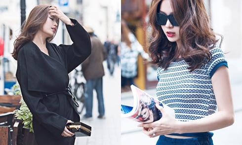 Á hậu Diễm Trang mặc ngày càng sành điệu