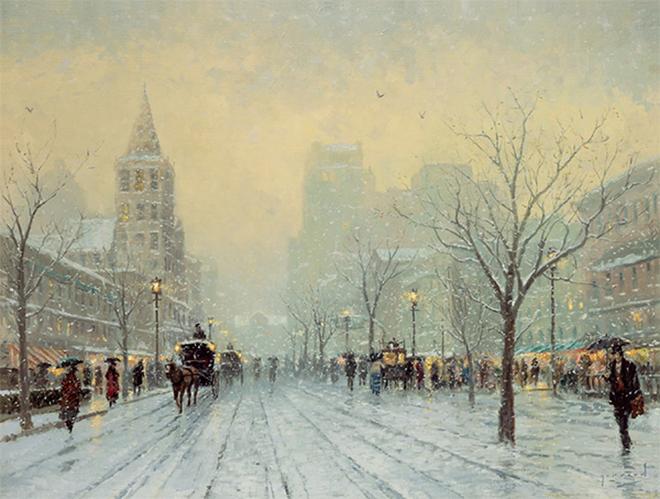 Tranh Giáng sinh tràn ngập ánh sáng của Thomas Kinkade