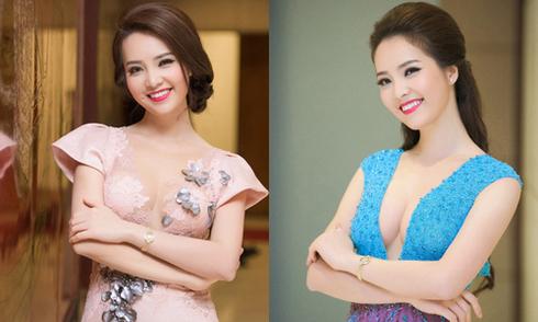 Á hậu Thụy Vân thay ba bộ váy trong sự kiện