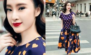 Angela Phương Trinh dạo phố với váy áo đa sắc màu