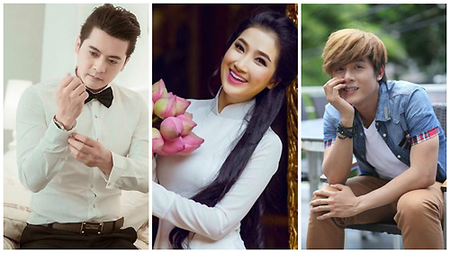 Từ phải qua: diễn viên Hòa Hiệp, Quỳnh Lam và Hoàng Anh.