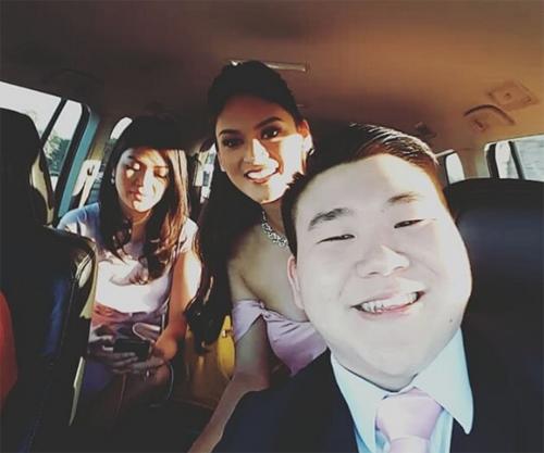 Hoa hậu Hoàn vũ 2015 làm phù dâu trong đám cưới bạn thân