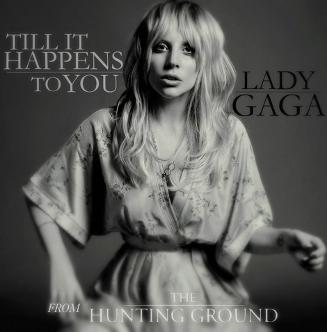 "Bìa đĩa đơn ""Til It Happens to You"" của Lady Gaga."