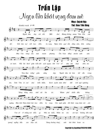 Bài thơ về Trần Lập được phổ thành ca khúc đầy cảm xúc