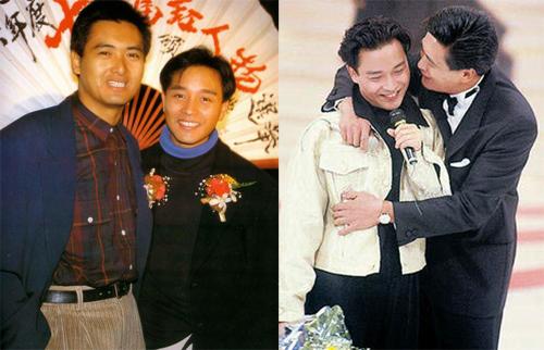 Trương Quốc Vinh (phải) và Châu Nhuận Phát ngoài đời khá thân thiết, thường trêu đùa mỗi khi gặp nhau ở sự kiện.