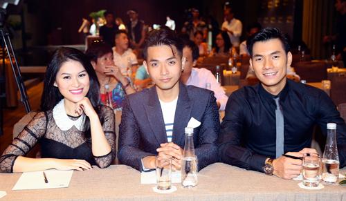 Từ trái qua: diễn viên Ngọc Thanh Tâm, ca sĩ Phạm Hồng Phước và diễn viên Nhan Phúc Vinh.