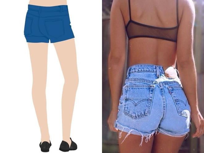 Mặc quần shorts đẹp theo từng dáng vòng ba