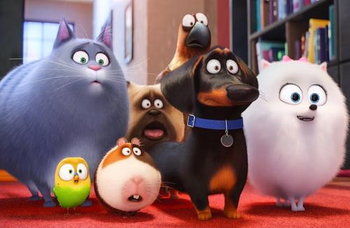 Các nhân vật thú cưng ngộ nghĩnh trong phim.