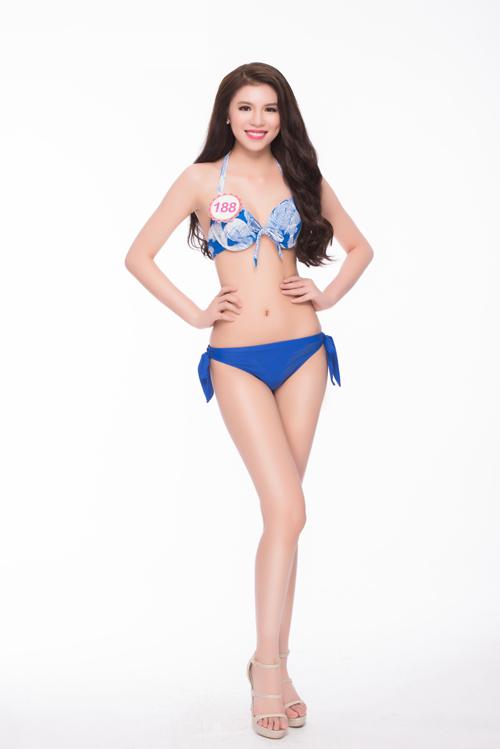 Thí sinh Hoa hậu miền Bắc khoe dáng với bikini