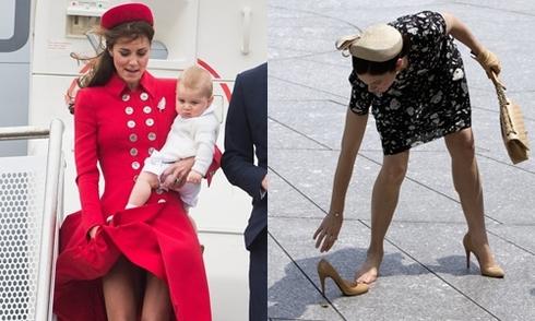 Sự cố váy áo của các người đẹp hoàng gia