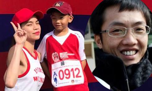 Chồng cũ chụp ảnh Hồ Ngọc Hà chạy bộ cùng con trai