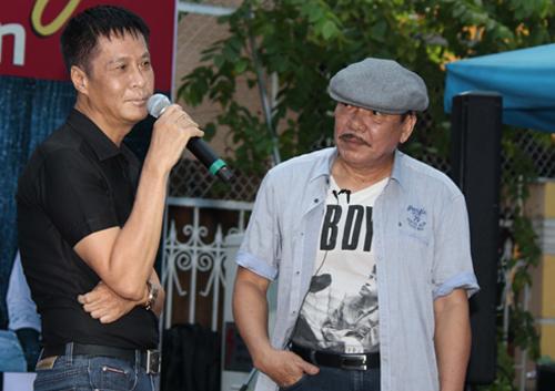 Đạo diễn Lê Hoàng (trái) chia sẻ về tác giả ca khúc Mặt trời bé con.