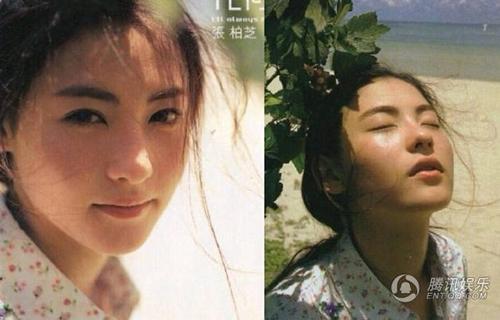 Trương Bá Chi khoe vẻ đẹp ngọt ngào tựa sương mai ở tuổi 19.  Loạt ảnh trong veo và thanh khiết như một đóa hoa của ngọc nữ Hong Kong được chụp khi cô thực hiện album solo đầu tiên Bất kể thời tiết nào phát hành năm 1999.