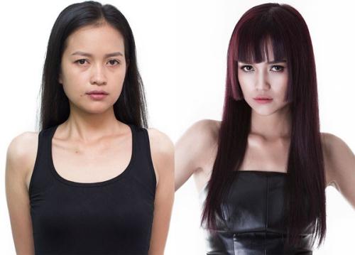 Khuôn mặt của Ngọc Châu thay đổi sau thử thách biến đổi phong cách.